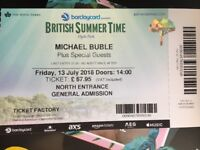 Michael Buble tickets, Hyde Park, Friday 13 July 2018,