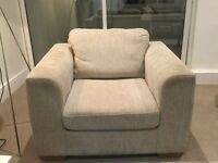 John Lewis arm chair and matching foot stool with storage