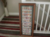 framed ciggerette cards of kings and queens of england