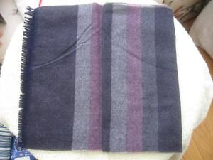 TWO WARM COZY ATTRACTIVE  ALL-WOOL FASHION  SCARVES