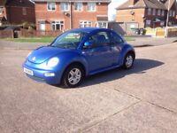 VW Beetle 1.6 petrol 2001 low miles PSH/New Cam-belt bargain £750