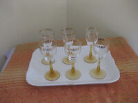 Set of six sherry glasses - perfect as new condition