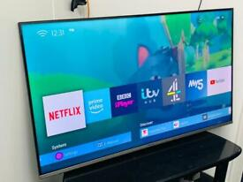 """43"""" 4K Hisense Ultra Hd Led tv Premium Model Excellent condition Wall Mountable Only"""
