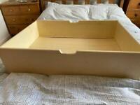 Under bed storage trays on wheels x 2