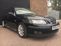 SAAB 9-3 2006 Estate black half leather manual service history
