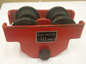 1/2 Ton Push Beam Track Roller Trolley Crane Lift Dual Wheels Garage Hoist. Opens up to 5-1/2""