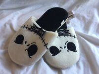 NEW Nightmare before Christmas slippers size 4-7 unique Halloween or X mas gift NEW