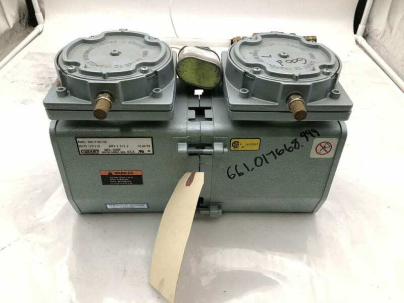 Gast DAA-P103-EB Two-Stage Oilless Diaphragm Vacuum Pump 115/110V