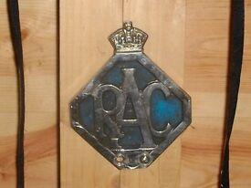 RAC Car Badge