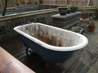 STEEL ROLLED TOP BATH