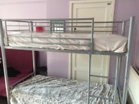 Metal Bunk Bed Silver Twin Sleeper - only frame