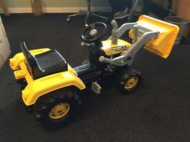 Dolu Kid's Children Ride On Yellow Digger With Shovel Loader rrp £109