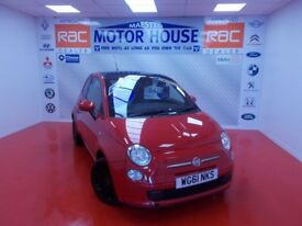 Fiat 500 TWINAIR PLUS (£0.00 ROAD TAX) FREE MOT'S AS LONG AS YOU OWN THE CAR!!!! (red) 2012