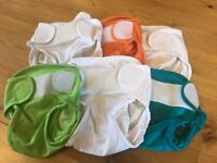 6 Reusable Little Lamb Nappy Wraps Size One
