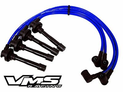 VMS 10.2MM RACING SPARK PLUG WIRES TRIPLE CORE RACE FOR KA24DE 2.4L ENGINE BLUE