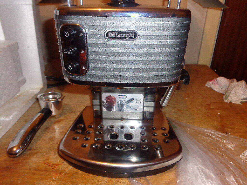 Delonghi skultura coffee machine gun metal grey