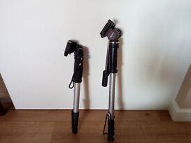 2x camera monopod