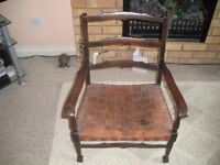 CHILDS ARM CHAIR LEATHER SEAT MAIDSTONE £35