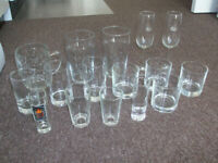 Mixed Selection of 16 Glasses Wine Beer Spirits etc