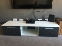 White and grey TV unit