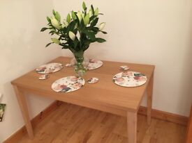 Dining table and place mats