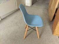 Childrens Eames Style Chair. - Blue