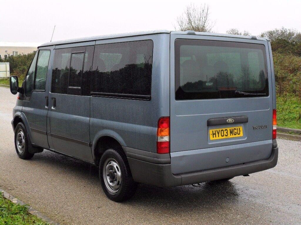 ford transit minibus 9 seats 2.0 ltr turbo diesel 12 months new mot / camper / van