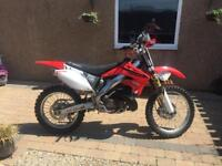 Honda CR250R motocross bike 2002 - 2 stroke.
