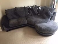 Corner sofa and chair excellent condition not a mark on it