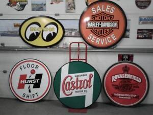 Large  Gasoline  And Automobile Service Signs