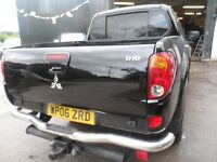 2006 06 MITSUBISHI L200 WARRIOR BLACK , 3 MONTHS WARRANTY 102K , LEATHER , FREE UK DELIVERY