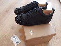 Christian Louboutin Junior Low Spikes Black Leather Size EU 42 UK 8