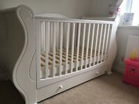 Tutti Bambini cot bed and wardrobe for sale