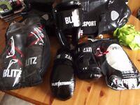 Blitz protective gear set and bag