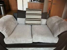 Sofas 2 seater and 3 seater settee chords foam