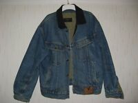 MENS VALENTINO TRUCKER STYLE QUILTED DENIM JACKET COAT MEDIUM/LARGE 38/40 CHEST