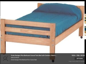 Two Twin Size Crate Design Beds