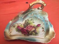 Victorian Cheese dish gorgeous rose design