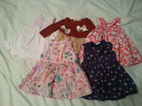 Used 5x Baby Girls Dresses for sale - 0-3 months