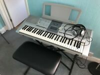 Keyboard, seat, stand, pedal and headphones