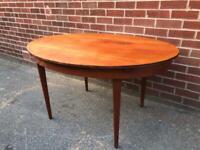 Vintage TEAK Oval Dining Chairs Mid Century Retro 60s 70s Greaves & Thomas