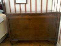 Oak wooden blanket box ottoman chest in good condition
