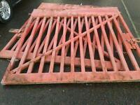VERY HEAVY DUTY GALVANISED EX POST OFFICE GATES VERY GOOD CONDITION
