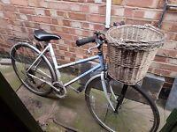 Ladies Raleigh Pioneer Bicycle Bike with basket