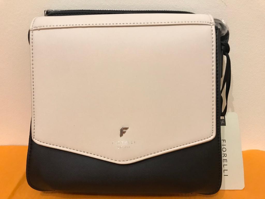Fiorelli Marta Mono Crossbody Bag White Black Bnwt Rrp 55