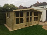 14x8 tanalized garden summer house