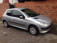 PEUGEOT 206 HDi DIESEL, 2004 REG, LONG MOT, FULL SERVICE HISTORY, HPi CLEAR,ONLY £30 A YEAR TO TAX