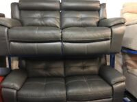 NEW/EX DISPLAY LazyBoy GREY LANGDALE 3 + 3 SEATER RECLINER SOFAS, SUITE, SETTES 70% Off RRP