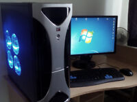 GAMING PC + BENQ MONITOR FULL HD GOOD SPECS FULL SET UP