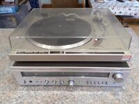 Pioneer Stereo PL-200 Turntable and Rotel Amlpifier RX-500SL